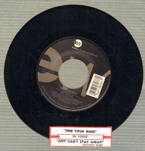 En Vogue - Free Your Mind/Just Can't Stay Away (with juke box label) - NM9/ - 45 rpm Records