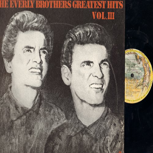 Everly Brothers - Greatest Hits Vol. 3: Hey Doll Baby, Lightning Express, Keep-A-Knocking, Barbara Allen, Brand New Heartache (Vinyl LP record, re-issue of vintage recordings) - M10/NM9 - LP Records