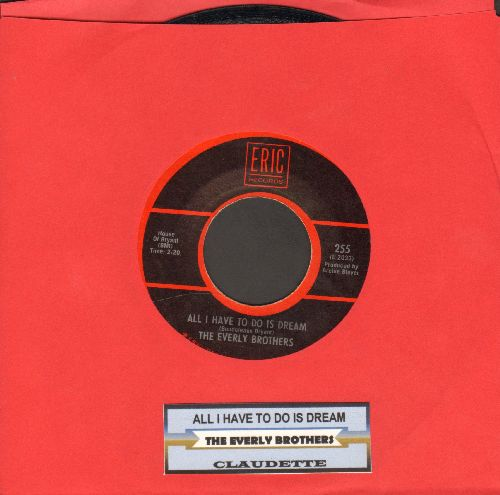 Everly Brothers - All I Have To Do Is Dream/Claudette (double-hit re-issue with juke box label) - EX8/ - 45 rpm Records