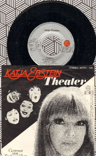 Ebstein, Katja - Theater  (Germany's Entry To Grand Prix D'Eurovision 1981!) (German Pressing with picture sleeve) - NM9/EX8 - 45 rpm Records
