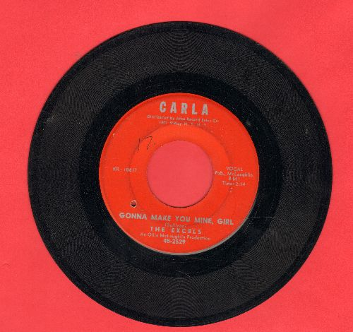 Excels - Gonna Make You Mine, Girl/Good Bye Poor Boy (bb) - VG7/ - 45 rpm Records