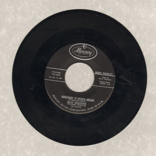 Eckstine, Billy - Boulevard Of Broken Dreams/If I Can Help Somebody - EX8/ - 45 rpm Records
