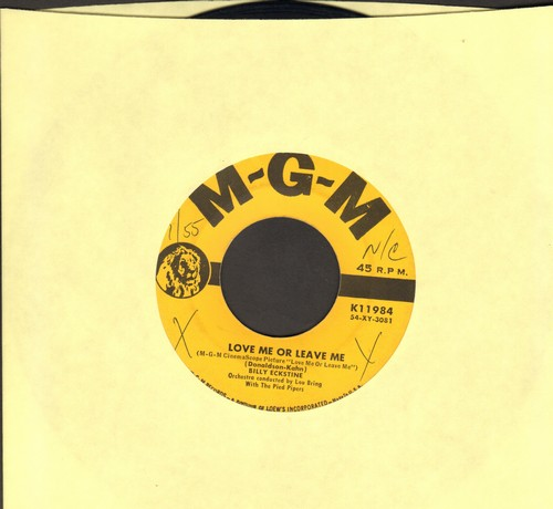 Eckstine, Billy - Love Me Or Leave Me/Only You (wol) - VG7/ - 45 rpm Records