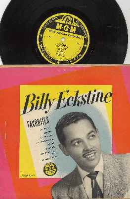 Eckstine, Billy - Favorites: Bewildered, Blue Moon, Fool That I Am, Caravan, I'm Falling For You, Somehow, Everything I Have Is Yours, My Foolish Heart (RARE 10 inch vinyl Mini-LP) - EX8/EX8 - LP Records