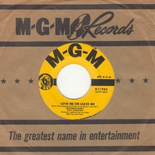 Eckstine, Billy - Love Me Or Leave Me/Only You (with vintage MGM company sleeve) - VG7/ - 45 rpm Records