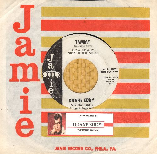 Eddy, Duane - Tammy/Drivin' Home (DJ advance pressing with RARE Jamie company sleeve and juke box label) - NM9/ - 45 rpm Records