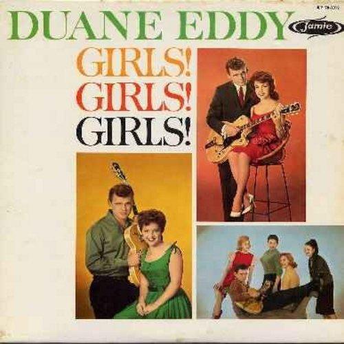 Eddy, Duane - Girls! Girls! Girls!: Tammy, Annette, Patricia, Mona Lisa, Connie, Carol, Brenda (Vinyl MONO LP record) - VG7/EX8 - LP Records