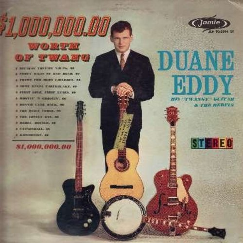 Eddy, Duane - $1,000,000.00 Worth Of Twang: Because They're Young, Forty Miles Of Bad Road, Rebel Rouser, Bonnie Came Back, Cannonball, Commotion (Vinyl LP record, RARE STEREO pressing!) - VG7/VG7 - LP Records