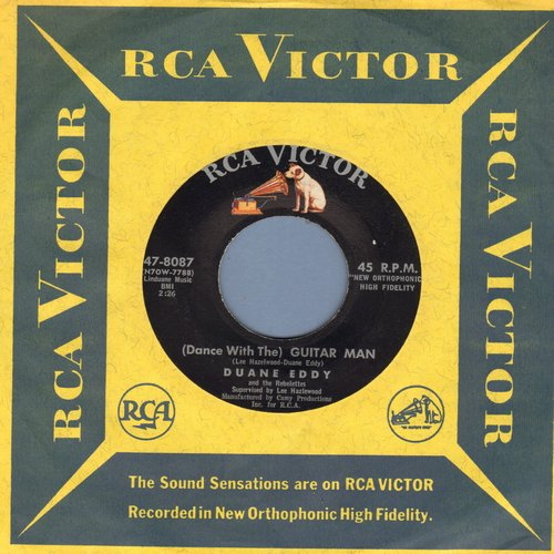 Eddy, Duane - Dance With The Guitar Man/Stretching Out (with RCA company sleeve) - EX8/ - 45 rpm Records