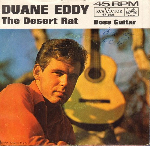 Eddy, Duane - Boss Guitar/The Desert Rat (with picture sleeve) - VG7/VG7 - 45 rpm Records