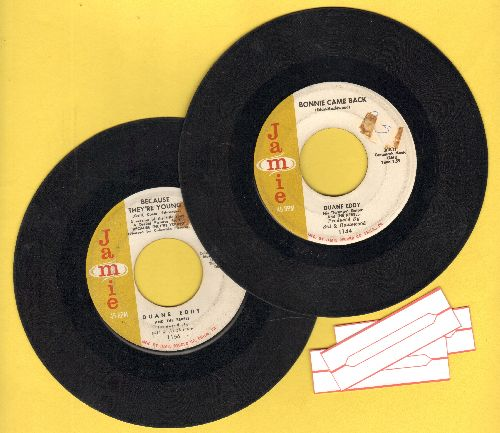 Eddy, Duane - 2 for 1 Special: Bonnie Came Back/Because They're Young (2 vintage first issue 45rpm records for the price of 1! - Shipped in plain paper sleeves with 3 blank juke box labels) - VG6/ - 45 rpm Records
