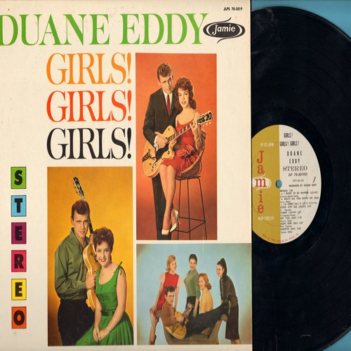 Eddy, Duane - Girls! Girls! Girls!: Tammy, Annette, Patricia, Mona Lisa, Connie, Carol, Brenda (Vinyl LP record, RARE STEREO Pressing!) - EX8/NM9 - LP Records