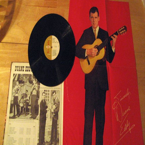 Eddy, Duane - Songs Of Our Heritage: John Henry, Prisoner's Song, Top Of Old Smokey, Scarlet Ribbons, Cripple Creek, Streets Of Loredo (Vinyl LP record, gate-fold cover with RARE Poster, still attached!) - EX8/VG7 - LP Records