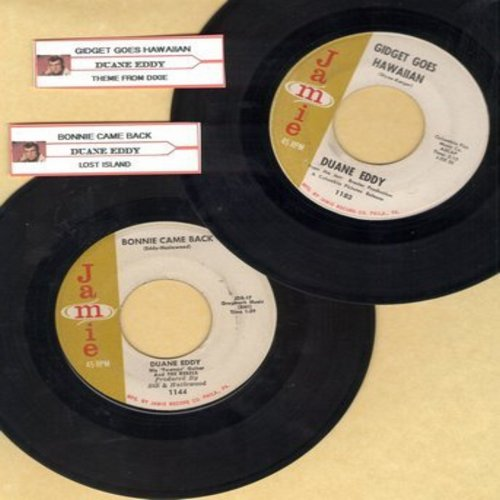 Eddy, Duane - 2 for 1 Special: Gidget Goes Hawaiian/Bonnie Came Back (2 vintage first issue 45rpm records with juke box labels for the price of 1!) - VG7/ - 45 rpm Records