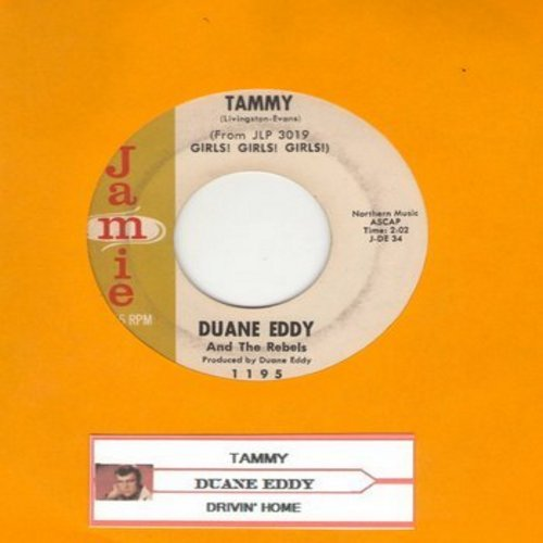 Eddy, Duane - Tammy/Drivin' Home (with juke box label) - EX8/ - 45 rpm Records