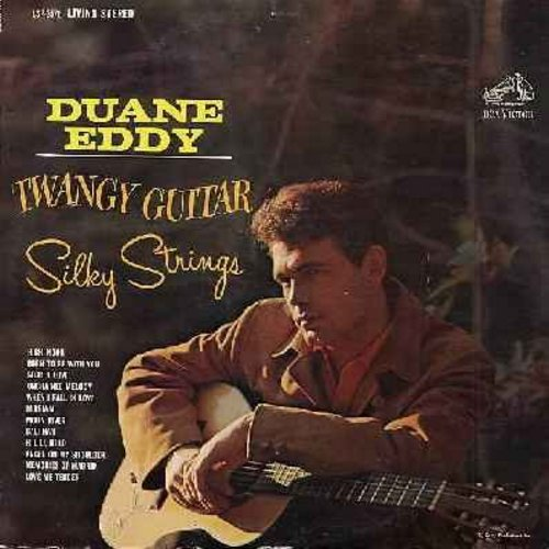 Eddy, Duane - Twangy Guitar, Silky Strings: High Noon, Secret Love, Moon River (Vinyl LP record in LIVING STEREO) - EX8/VG7 - LP Records