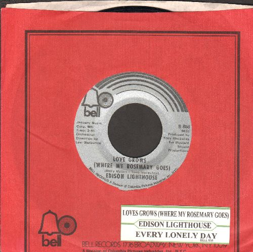 Edison Lighthouse - Love Grows (Where My Rosemary Goes)/Every Loney Day (with juke box label AND Bell company sleeve) - VG7/ - 45 rpm Records