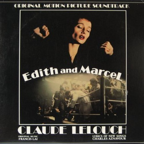 Piaf, Edith - Edith And Marcel - Original Motion Picture Soundtrack featuring vintage recordings by Edith Piaf and new compositions performed by Charles Aznavour (2 vinyl LP records, gate-fold cover) - M10/EX8 - LP Records