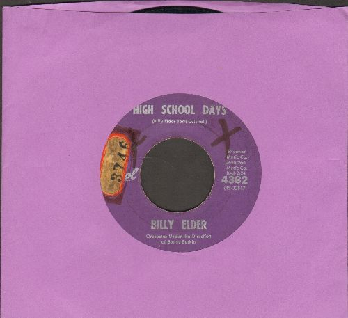 Elder, Billy - High School Days/How Lonely Am I (wol) - VG7/ - 45 rpm Records