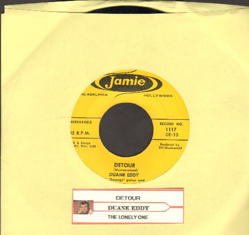Eddy, Duane - Detour/The Lonely One (with juke box label) - NM9/ - 45 rpm Records