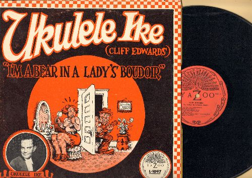 Ukelele Ike (Cliff Edwards) - I'm A Bear In A Lady's Boudoir: Hard Hearted Hannah, Charley My Boy, It Had To Be You, California (vinyl LP record, 1974 issue of vintage recordings) - NM9/VG7 - LP Records