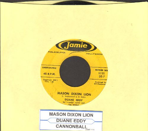 Eddy, Duane - Mason Dixon Lion/Cannon Ball (with juke box label) - EX8/ - 45 rpm Records