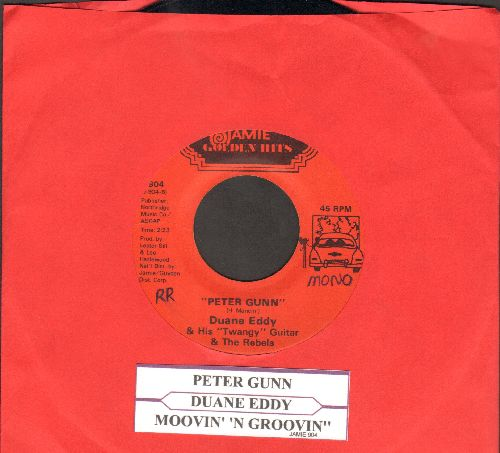 Eddy, Duane - Peter Gunn/Moovin' 'N Groovin' (double-hit re-issue with juke box label) - EX8/ - 45 rpm Records