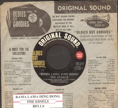 Edsels - Rama Lama Ding Dong/Bells (re-issue with RARE company sleeve and juke box label) - M10/ - 45 rpm Records