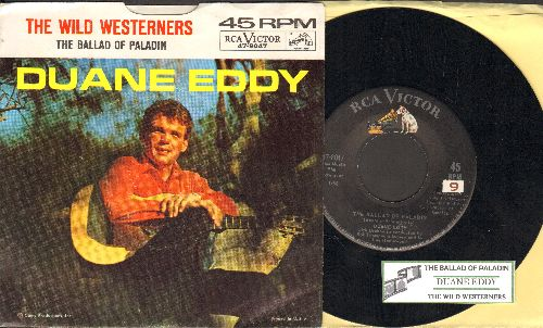 Eddy, Duane - The Ballad Of Paladin/The Wild Westerners (with juke box label and picture sleeve) - NM9/EX8 - 45 rpm Records