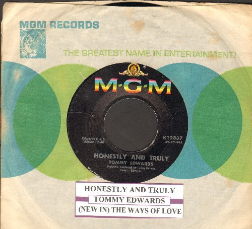 Edwards, Tommy - Honestly & Truly/The Ways Of Love (with juke box label and MGM company sleeve)) - NM9/ - 45 rpm Records
