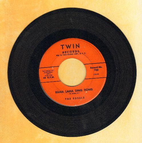Edsels - Rama Lama Ding Dong/Bells (orange label) - EX8/ - 45 rpm Records