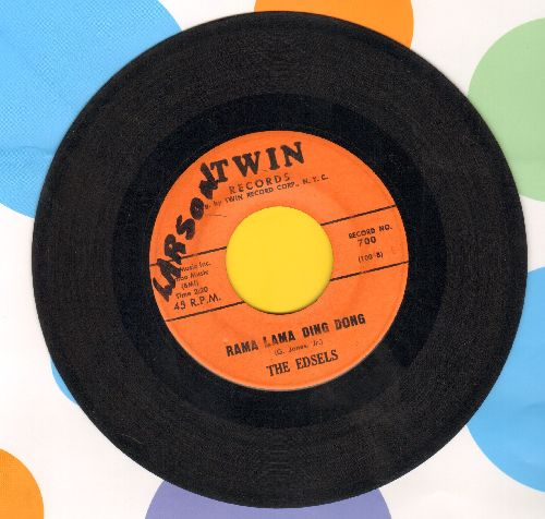 Edsels - Rama Lama Ding Dong/Bells (orange label)(wol) - VG7/ - 45 rpm Records