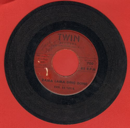 Edsels - Rama Lama Ding Dong/Bells (burgundy label, minor wol) - VG7/ - 45 rpm Records
