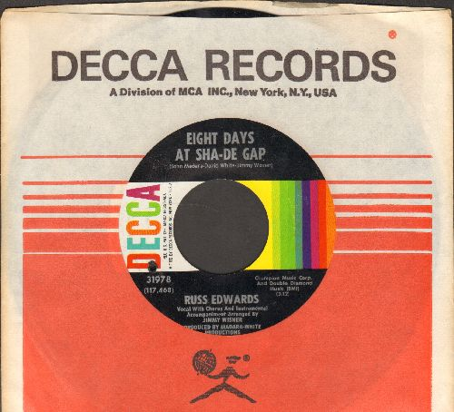 Edwards, Russ - Eight Days At Sha-De Gap/Hey, Big Mister (with vintage Decca company sleeve, bb) - NM9/ - 45 rpm Records