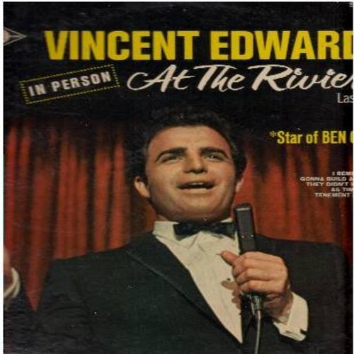 Edwards, Vincent - In Person At The Riviera: Ben Casey Medley, Gonna Build A Mountain, Lost In The Stars (Vinyl STEREO LP record) - NM9/EX8 - LP Records