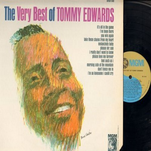 Edwards, Tommy - The Very Best Of: It's All In The Game, Melancholy Baby, Please Mr. Sun, I Really Don't Want To Know, Don't Fence Me In (Vinyl STEREO LP record, 1980s pressing) - M10/EX8 - LP Records