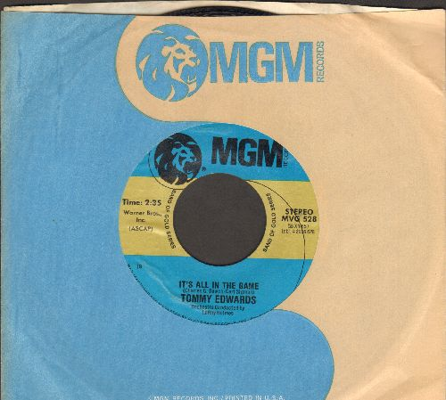 Edwards, Tommy - It's All In The Game/Love Is All We Need (double-hit re-issue with MGM company sleeve) - NM9/ - 45 rpm Records
