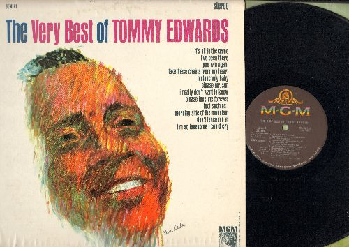 Edwards, Tommy - The Very Best Of: It's All In The Game, Melancholy Baby, Please Mr. Sun, I Really Don't Want To Know, Don't Fence Me In (Vinyl STEREO LP record) - EX8/EX8 - LP Records