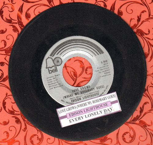 Edison Lighthouse - Love Grows (Where My Rosemary Goes)/Every Lonely Day (with juke box label) - VG7/ - 45 rpm Records
