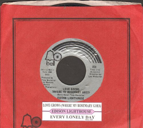 Edison Lighthouse - Love Grows (Where My Rosemary Goes)/Every Lonely Day (with juke box label and company sleeve) - NM9/ - 45 rpm Records
