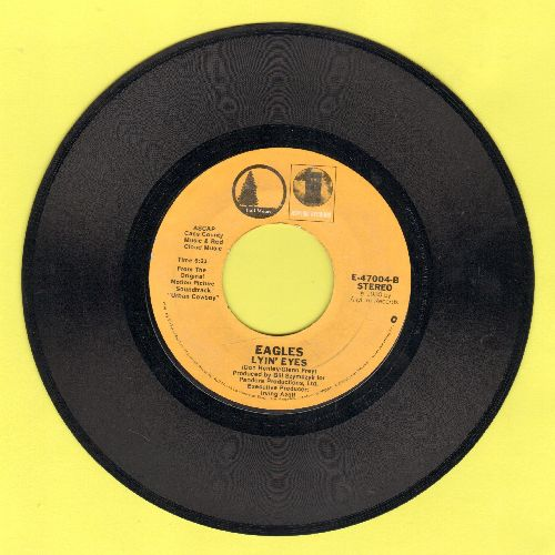 Eagles - Lyin' Eyes/Lookin' For Love (by Johnny Lee on flip-side) - NM9/ - 45 rpm Records