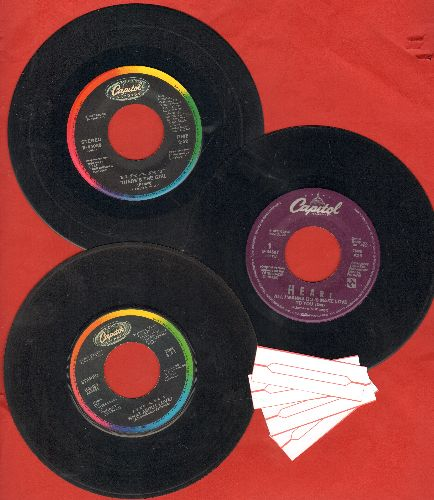 Heart - Heart 3-Pack of Hits, includes What About Love?/There's The Girl/All I Wanna Do Is Make Love To You. Shipped in plain white paper sleeves with 4 blank juke box labels. GREAT for a juke box! - VG7/ - 45 rpm Records