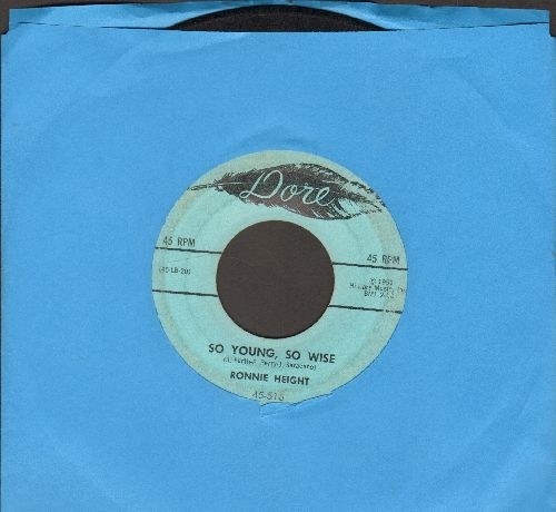 Height, Ronnie - So Young, So Wise/Juvenile - VG7/ - 45 rpm Records