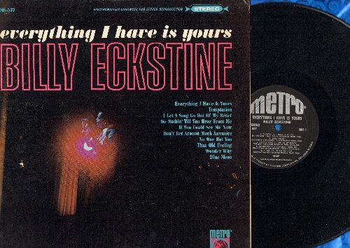 Eckstine, Billy - Everything I Have Is Yours: Temptation, Don't Get Around Much Anymore, Blue Moon, Do Nothin' Till You Hear From Me (Vinyl STEREO LP record) - EX8/NM9 - LP Records