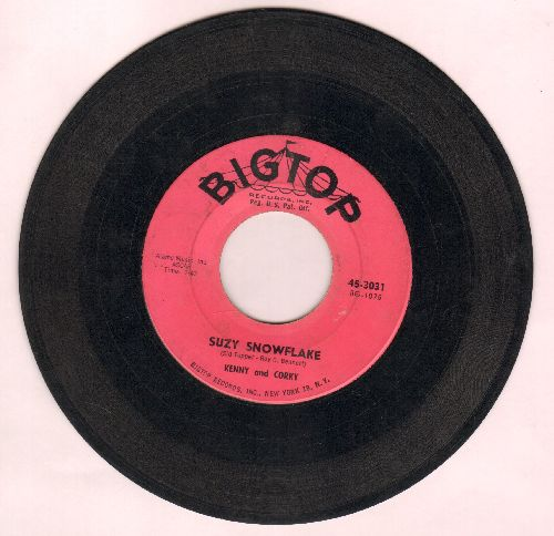 Kenny & Corky - Suzy Snowflake/Nuttin' For Christmas (wol) - G5/ - 45 rpm Records