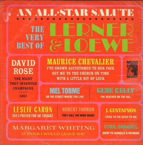 Lerner & Loewe - The Very Best Of Lerner & Loewe: On The Street Where You Live, They Call The Wind Maria, The Night They Invented Champagne (Vinyl LP record, SEALED, never opened!) - SEALED/SEALED - LP Records