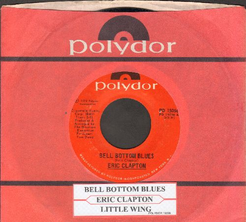 Clapton, Eric - Bell Bottom Blues/Little Wing (with juke box label and Polydor company sleeve) - NM9/ - 45 rpm Records