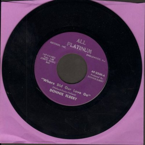 Elbert, Donnie - Where Did Our Love Go/That's If You Love Me - M10/ - 45 rpm Records