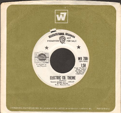 Raposo, Joe & The Kids - Electric Co. Theme/Sing (by The Kids on flip-side) (DJ advance pressing with vintage Warner Brothers company sleve - EX8/ - 45 rpm Records