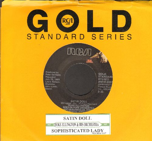 Ellington, Duke & His Orchestra - Satin Doll/Sophisticated Lady (re-issue with RCA company sleeve) - EX8/ - 45 rpm Records